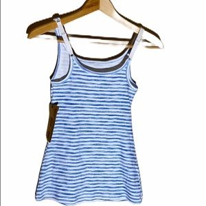Ruff Hewn IVP Blue and white striped Camisole Top